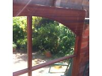 Extra Large Window Shape Mirror Project! for Pub Gym Garden Living Room / Possible Delivery