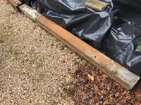 Wooden gate posts - used pair.