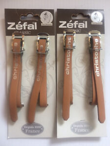 Toe clip pedals and straps