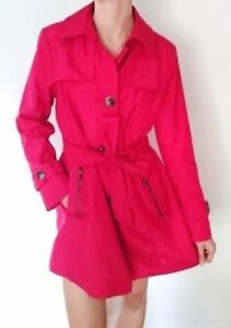 NEW Red Trench/Rain Water Resistant Stylish Large Size 12