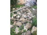 Large amount of building stone for sale large And small Stones