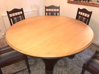 Quality Meyer & Fereirra Yellowwood and Imbuia Dining Table + 8 matching Chairs + matching Sideboard