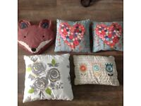 Five scatter cushions