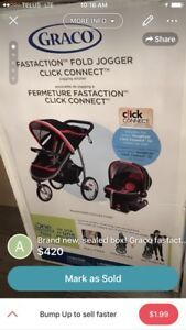 Brand new, sealed box! Graco fastaction fold jogger, Snugride
