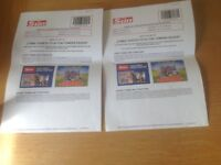 2 x Alton Towers Tickets 5th September