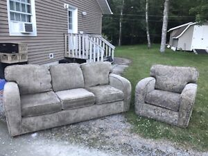 Couch and chair set - REDUCED