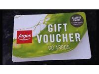 selling Argos shopping voucher £539 for £500