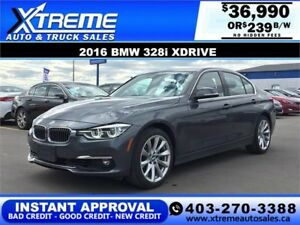 2016 BMW 328i xDrive $0 Down $239 b/w APPLY NOW DRIVE NOW