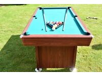 6ft Walker & Simpson Regal pool table (used)