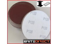 50x Sanding Discs Grit 40, 60, 80, 100, 120 self adhesive 125 ,5 Great quality sanders sand paper