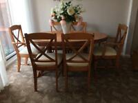 Ducal extending dining table and 6 chairs