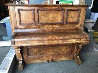 Antique Haake walnut piano