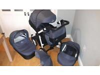 Venicci 3 in 1 Travel System Pram Cot Buggy