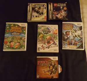 Nintendo Wii and GBA Videogames -- Animal Crossing, Opoona