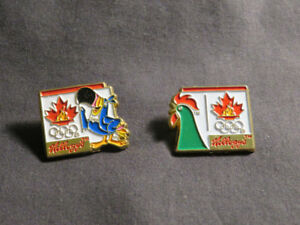 (2) 1988 Kellogg OLYMPIC PIN COLLECTIBLES