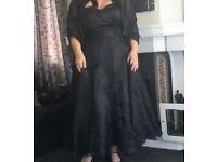 Black wedding dress size 18