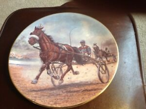 "Horse Plate By Robert T Banks "" The Pacer' "" Gorgeous"