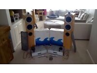 Stereo - Cambridge Audio 740A CD Player and Amplifier + 2x 200w Wharfedale Floor Stood Loud Speakers
