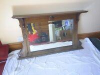 over mantle oak surround mirror