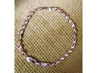 Lovely 9ct gold unusual fancy link bracelet