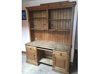Pine wall unit/computer table