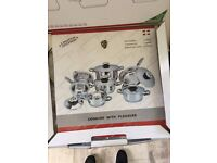 STAINLESS STEEL SWISS POT AND PAN 12 PC SET RRP £1085