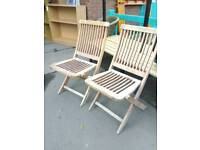 Hardwood deck chairs. Price is each