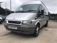 Ford transit 17 seater minibus 05 Reg mot July 2018 drives all good
