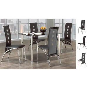 Tables, chaises, ensembles à dîner. Neufs. Beaux. Pas cher.