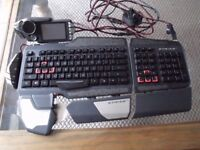 Mad Catz STRIKE 7 Touch Screen compter Gaming Keyboard
