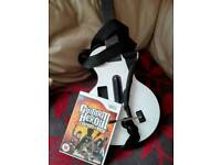Wii guitar and game