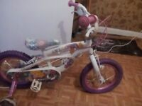 14 inch girls rag doll bike as new