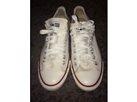 White Converse All Star size 9