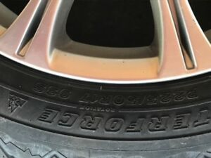 4  alloy rims for a BMW with winter tires
