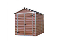 Palram skylight shed 6 x 8 ftDurable storage - Amber