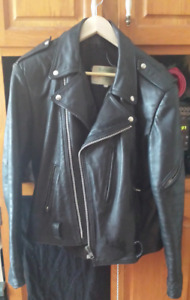 Large men's leather biker jacket 120 Great condition!
