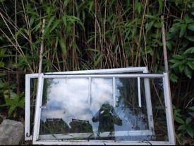 Glazed timber window frame
