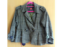 HUGO BOSS double brested check pattern womens blazzer - size-10 . Very good condition