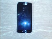 Samsung Galaxy s6 edge with cracked screen