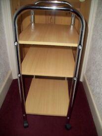 Modern Three shelf Trolley H 84 w 49 d 35 cm