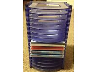 CD/DVD Rack shelf storage + 3 blank disks