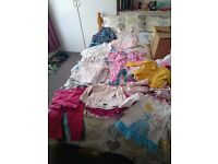 Large bundle of girls clothes aged between 12-18 months and 18-24 months
