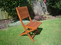 4 B&Q Roscana Teak Folding Garden Chairs