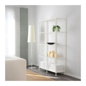IKEA Shelving Unit with Lighting installed