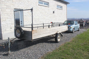 8 x 12 utility trailer /remorque  (4 ft +2 in wide)