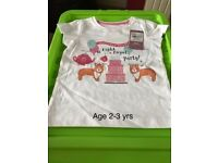 TU White Patterned Right Royal Party Age 2-3 ** Brand New **