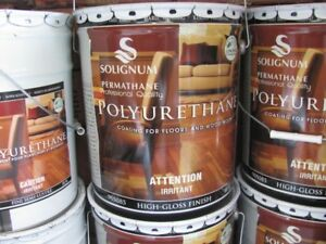 polyurethane floor varnish oil base 18.9L
