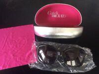 Ladies Lipsy London Oversized Sunglasses and Hard Case NEW