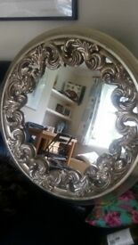 Antique style beautiful rounded mirror