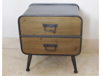 New Industrial style Bedside Cabinet Vintage Retro DELIVERY AVAILABLE